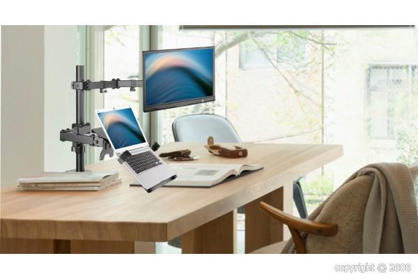 colonne articul e double support pc portable cran 13 32 915170 nci sa importateur. Black Bedroom Furniture Sets. Home Design Ideas